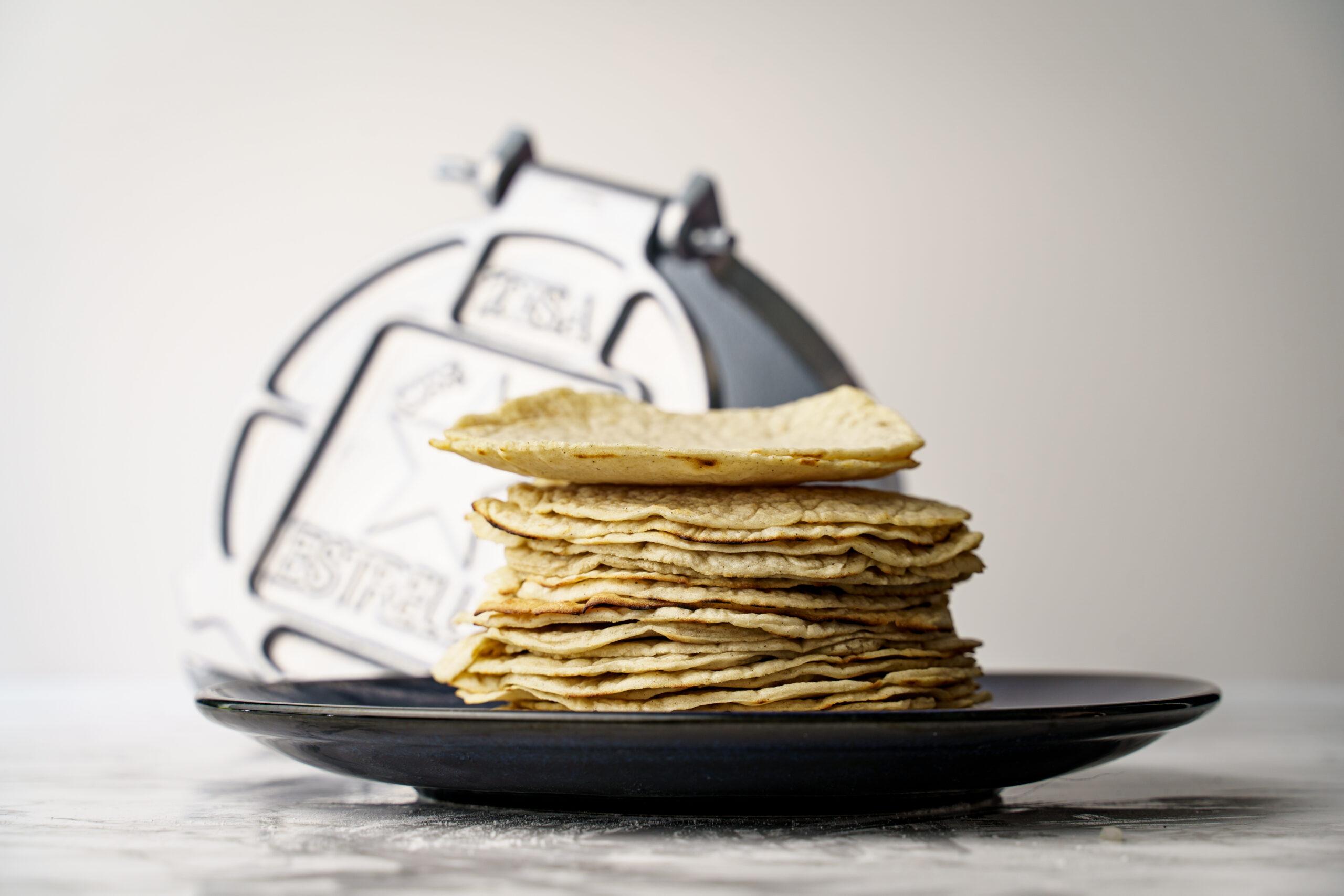 Het doel van de afbeelding is een beeld geven hoe de tortilla's eruit zien