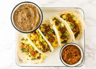 Makkelijke ontbijt taco's Mexicaans recept