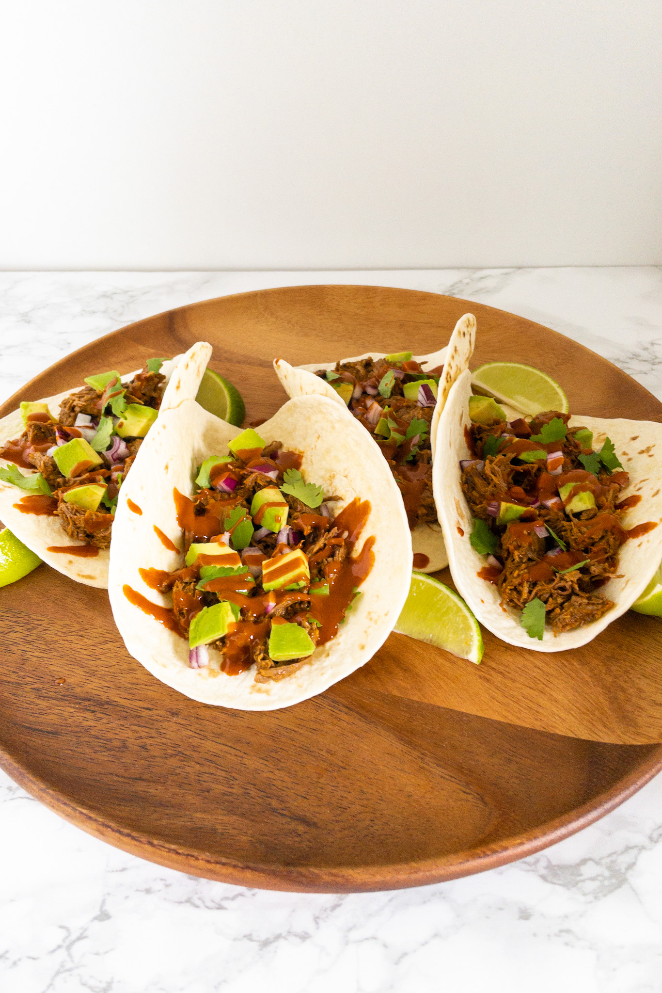 Taco's met rundvlees en Ancho saus