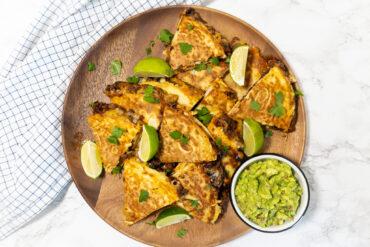 Quesadilla's met Chili sin Carne