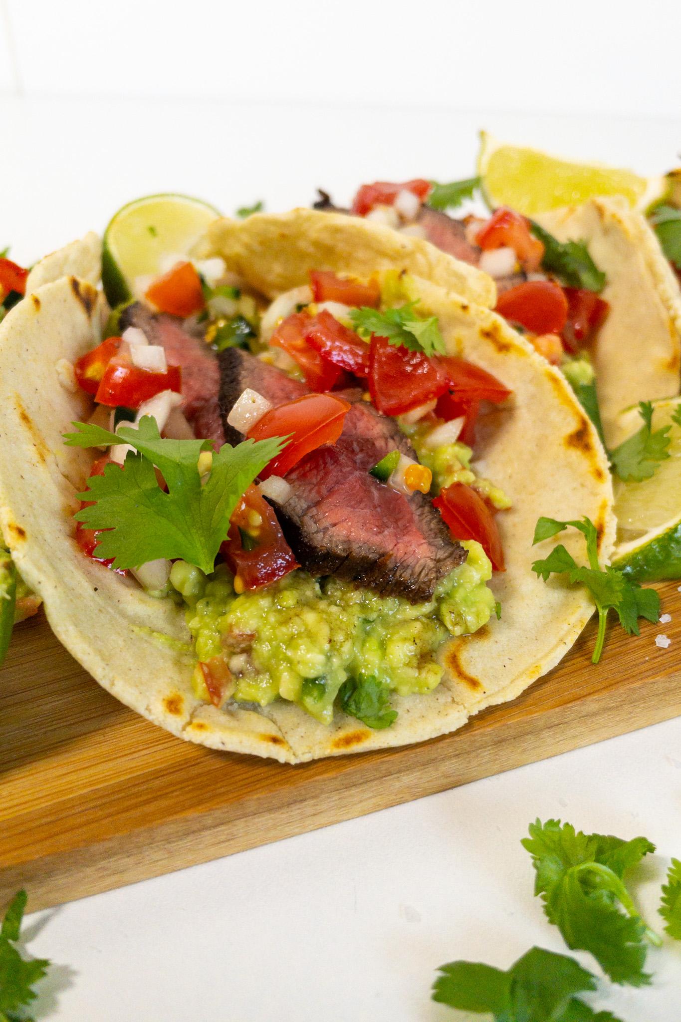 Taco's met Carne Asada