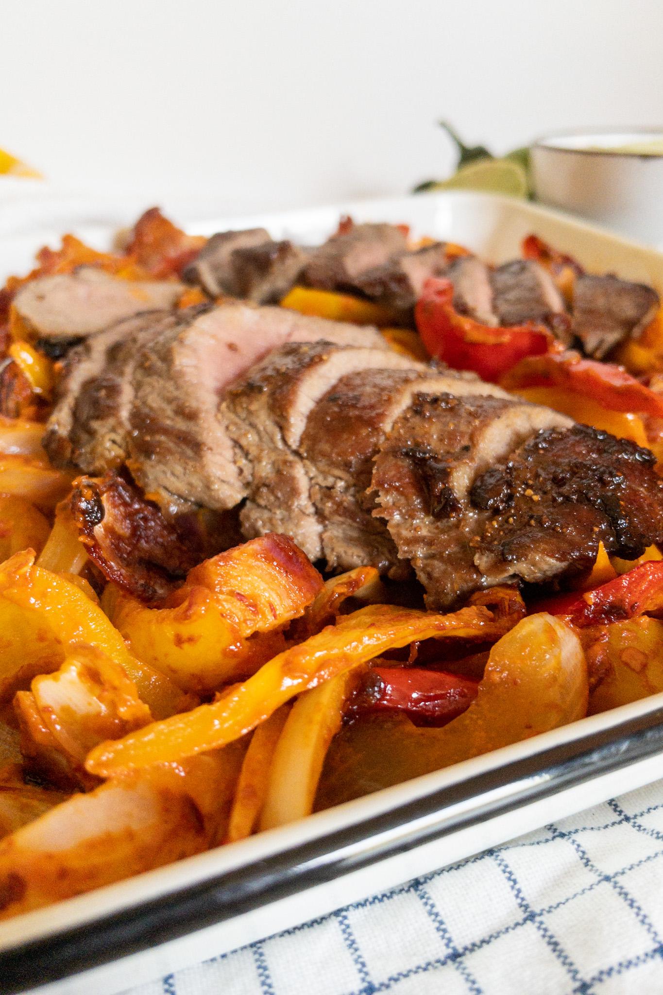 Fajitas met biefstuk