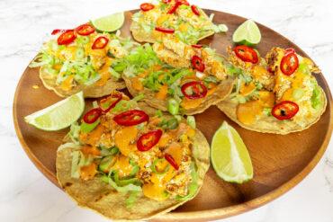 Taco's met krokante kip in Panko