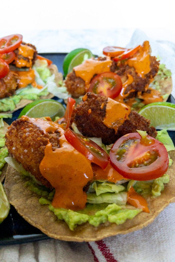 Taco's met krokante kabeljauw